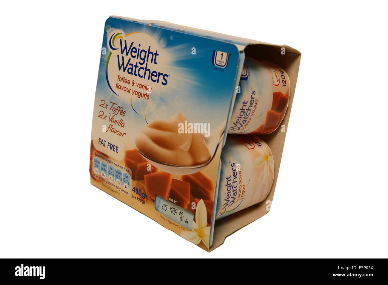 Weight Watchers Yogurts - Stock Image