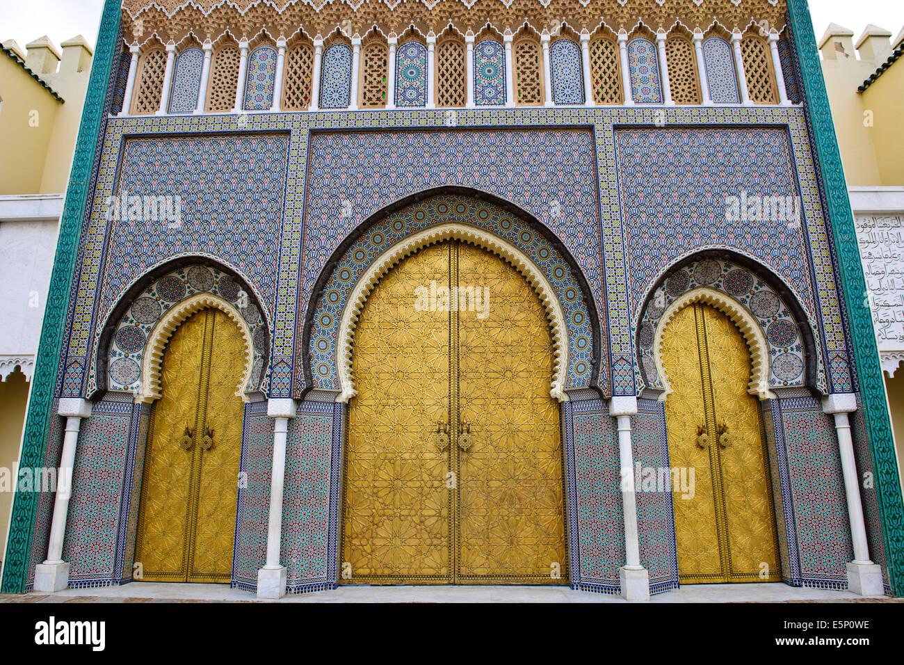 Golden Moorish GatesRichly ornamentedEngraved Bronze DoorsLalla Mina GardensSquareDar el-MakhzenRoyal PalaceFezMorocco & Golden Moorish GatesRichly ornamentedEngraved Bronze DoorsLalla ...