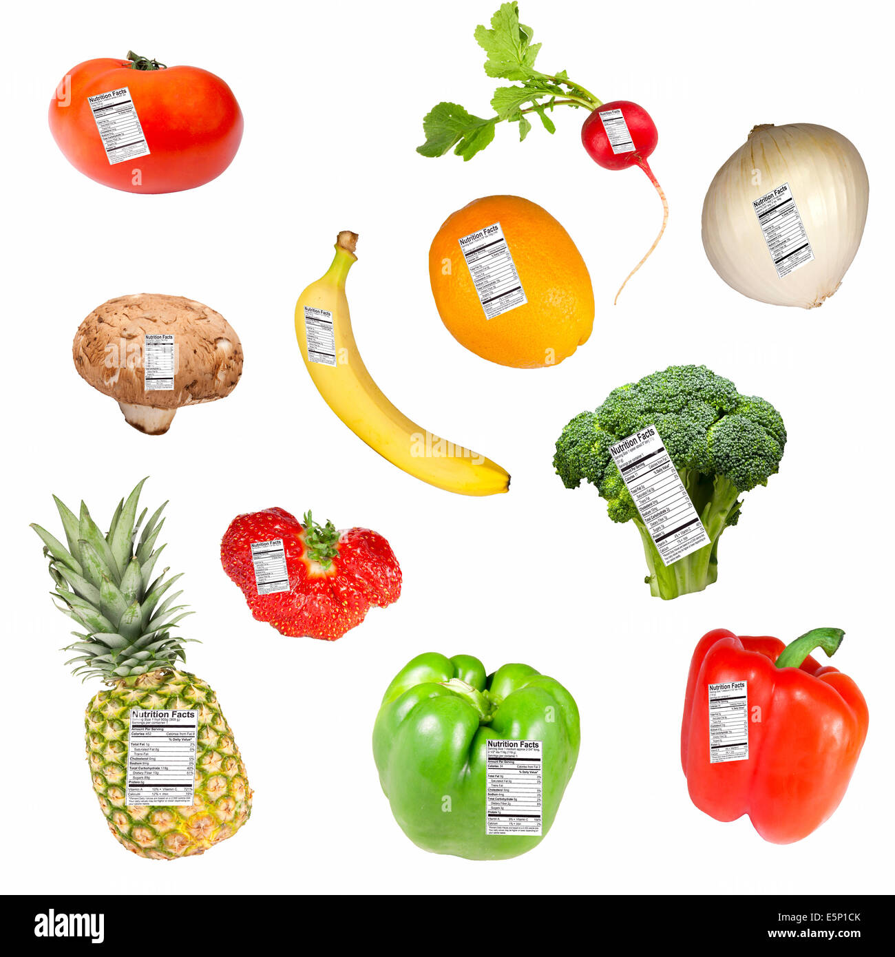 Nutritional Facts Of Vegetables And Fruits