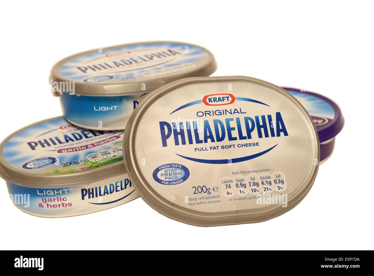 Philadelphia Soft Cheese Range - Stock Image