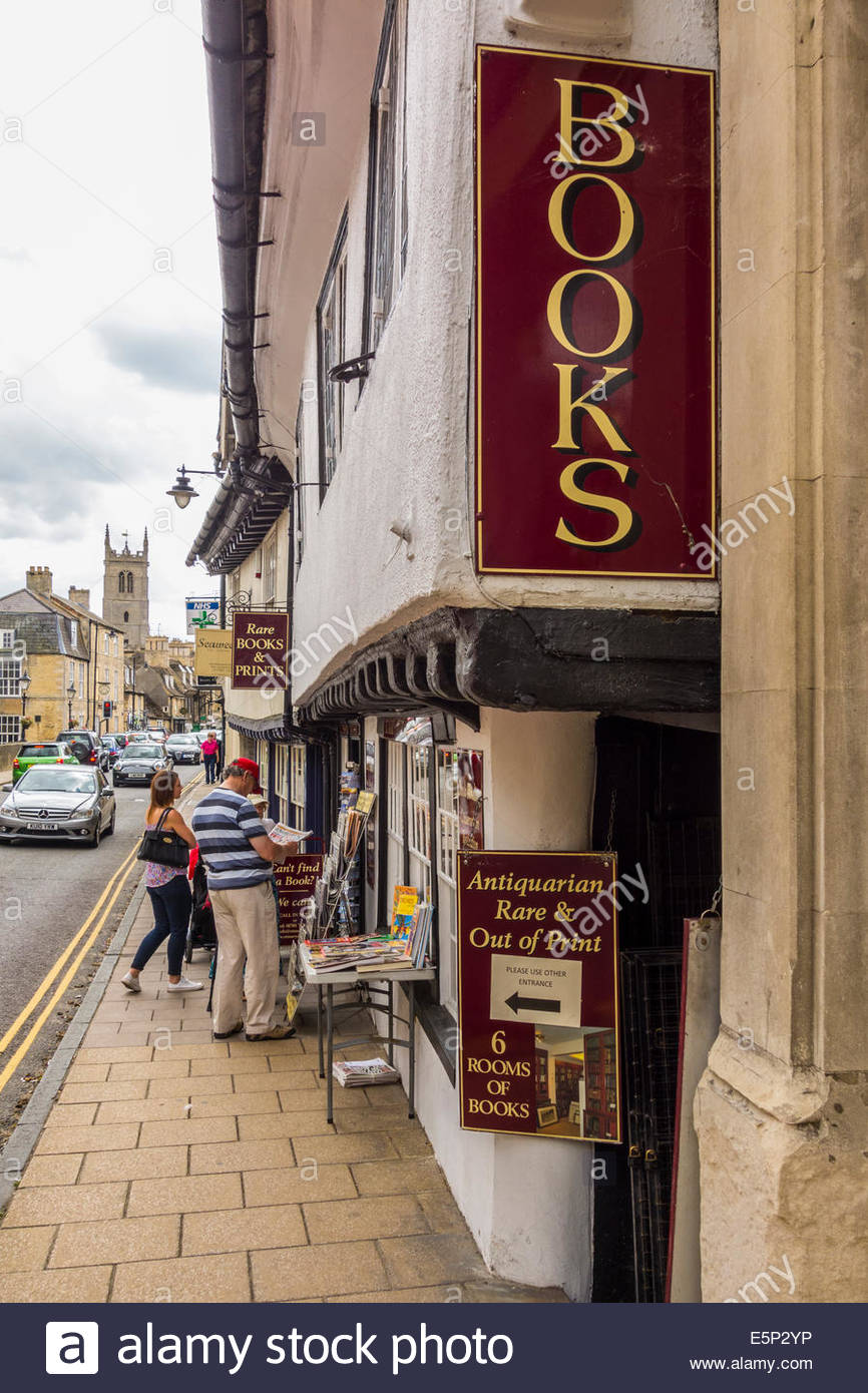 Antiquarian and Rare and out of print bookshop in Stamford, Lincolnshire - Stock Image