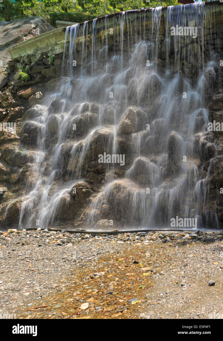 Waterfall at Dim river's picnic place - Stock Image