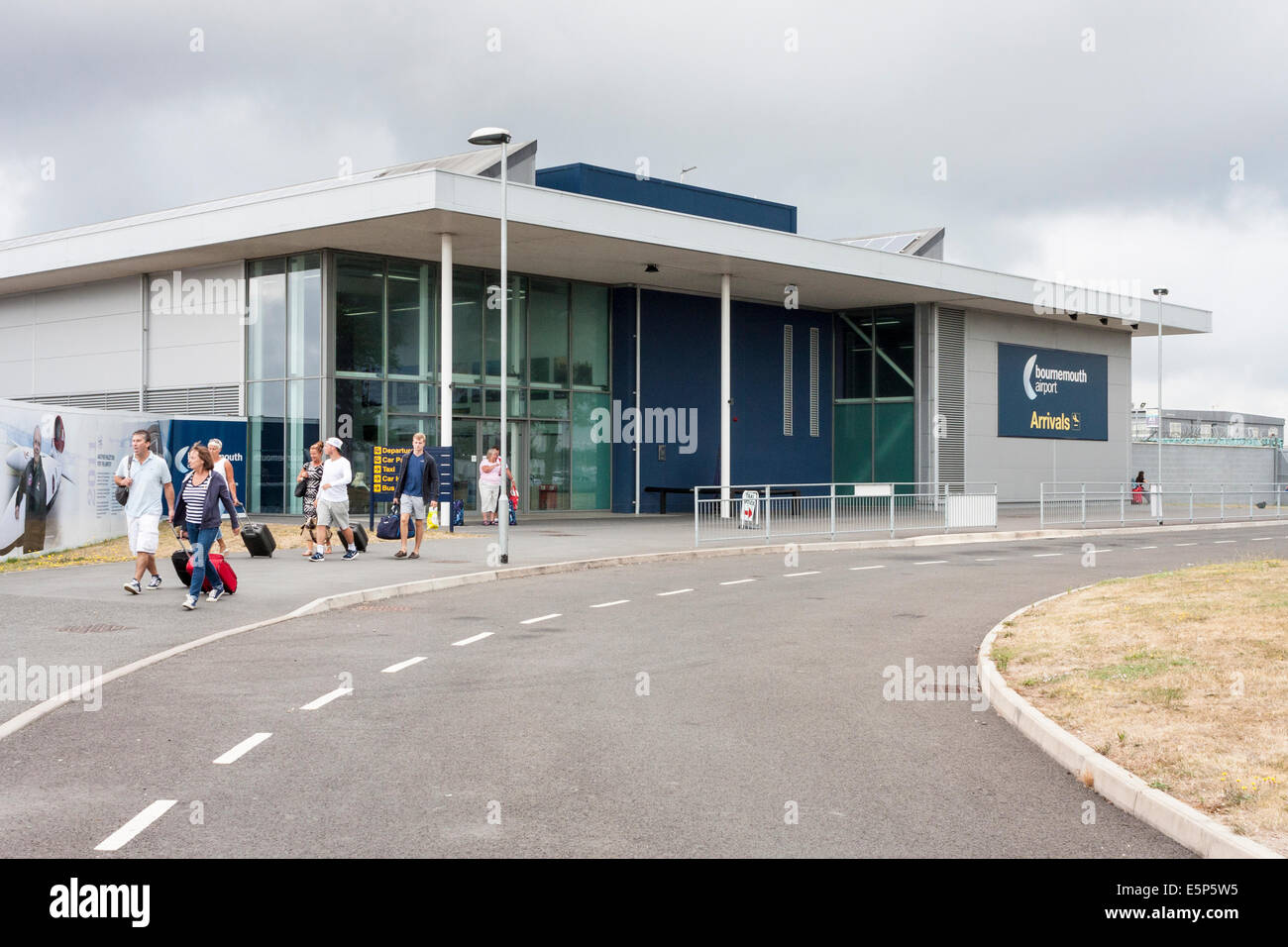 Bournemouth Airport arrivals terminal - Stock Image