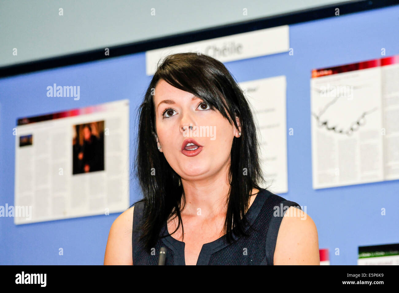 Belfast, Northern Ireland. 4th Aug, 2014.  Grainne Teggart from Amnesty International Credit:  Stephen Barnes/Alamy - Stock Image