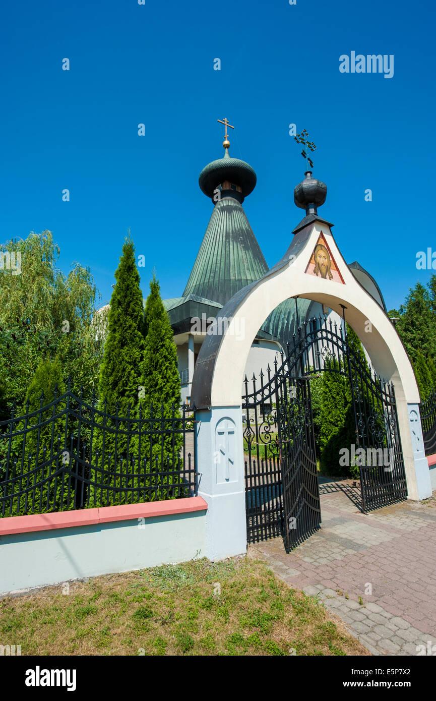 The Christian Orthodox church in Hajnowka, Podlasie, Poland. - Stock Image