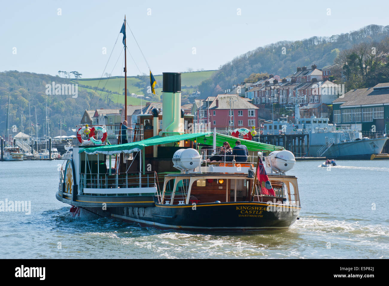 Steam Paddle Boat On The River Dart Devon England
