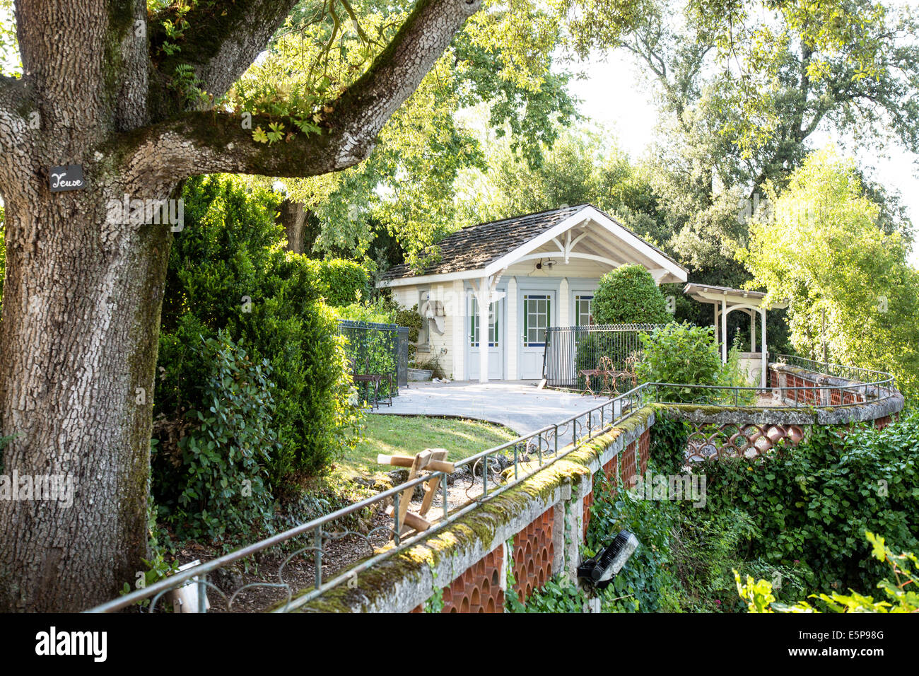 French Summerhouse  Cognac France - Stock Image