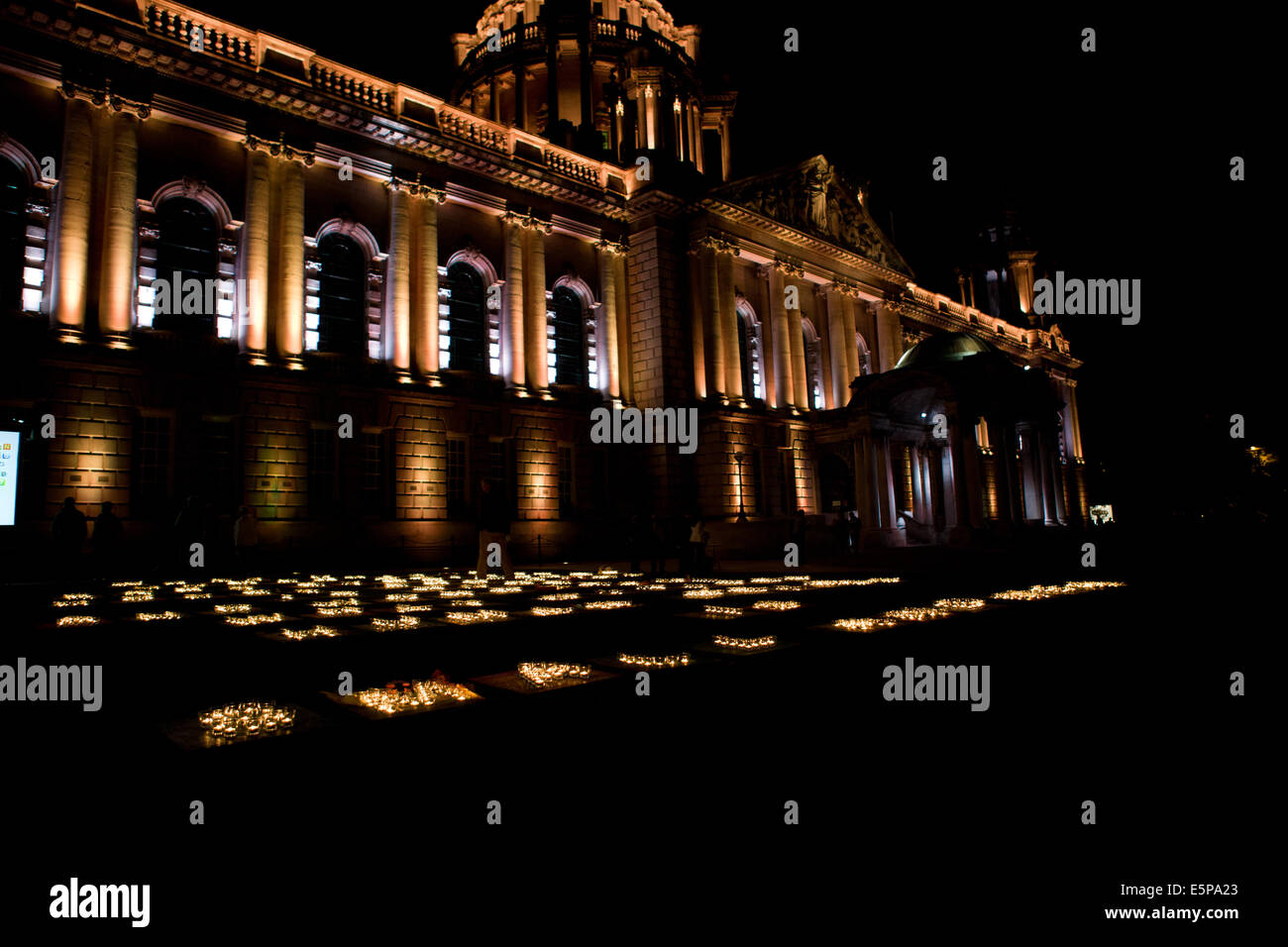 Belfast City Hall Grounds, Ireland. 4th Aug, 2014. 'What unites Human Beings Ears Eyes Loves Hopes and Toes - Stock Image