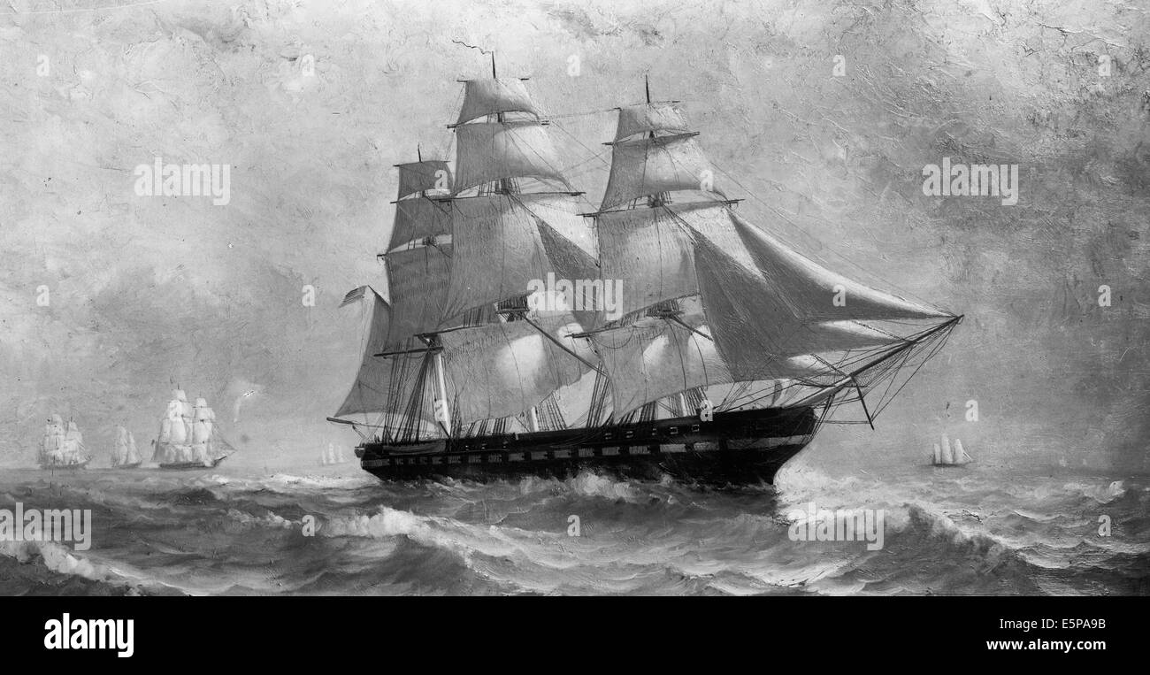 U. S. frigate Constitution - Old Ironsides - Stock Image