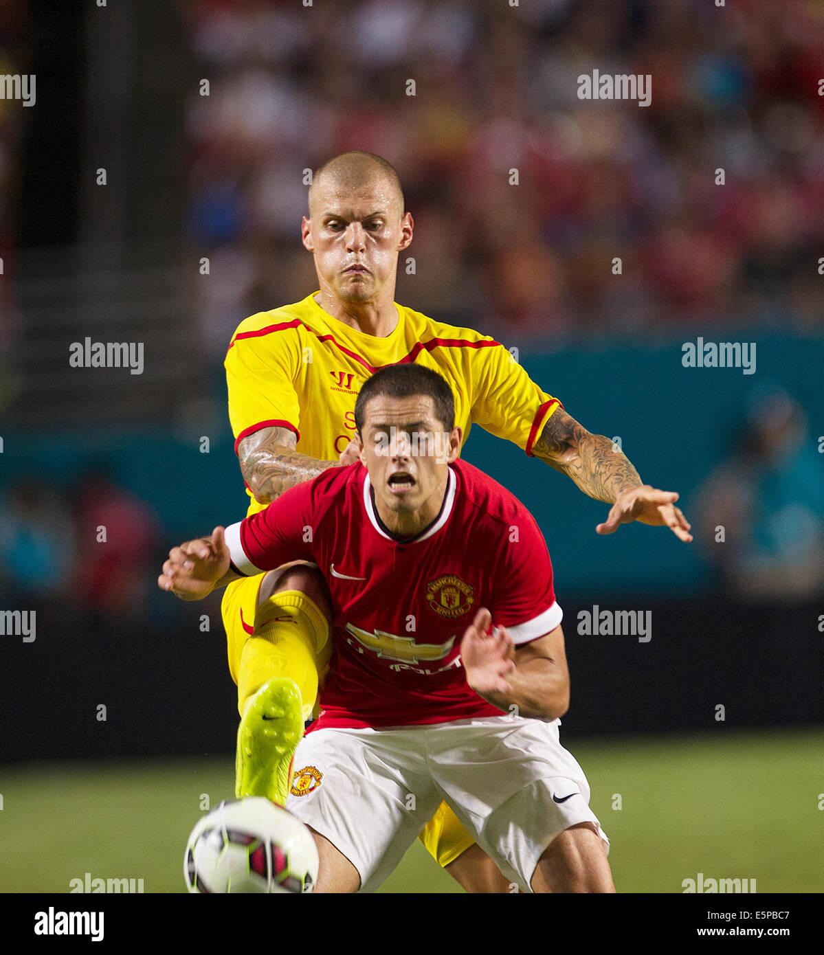Liverpool Fc 4 0 Barcelona International Champions Cup: Javier Hernandez Stock Photos & Javier Hernandez Stock