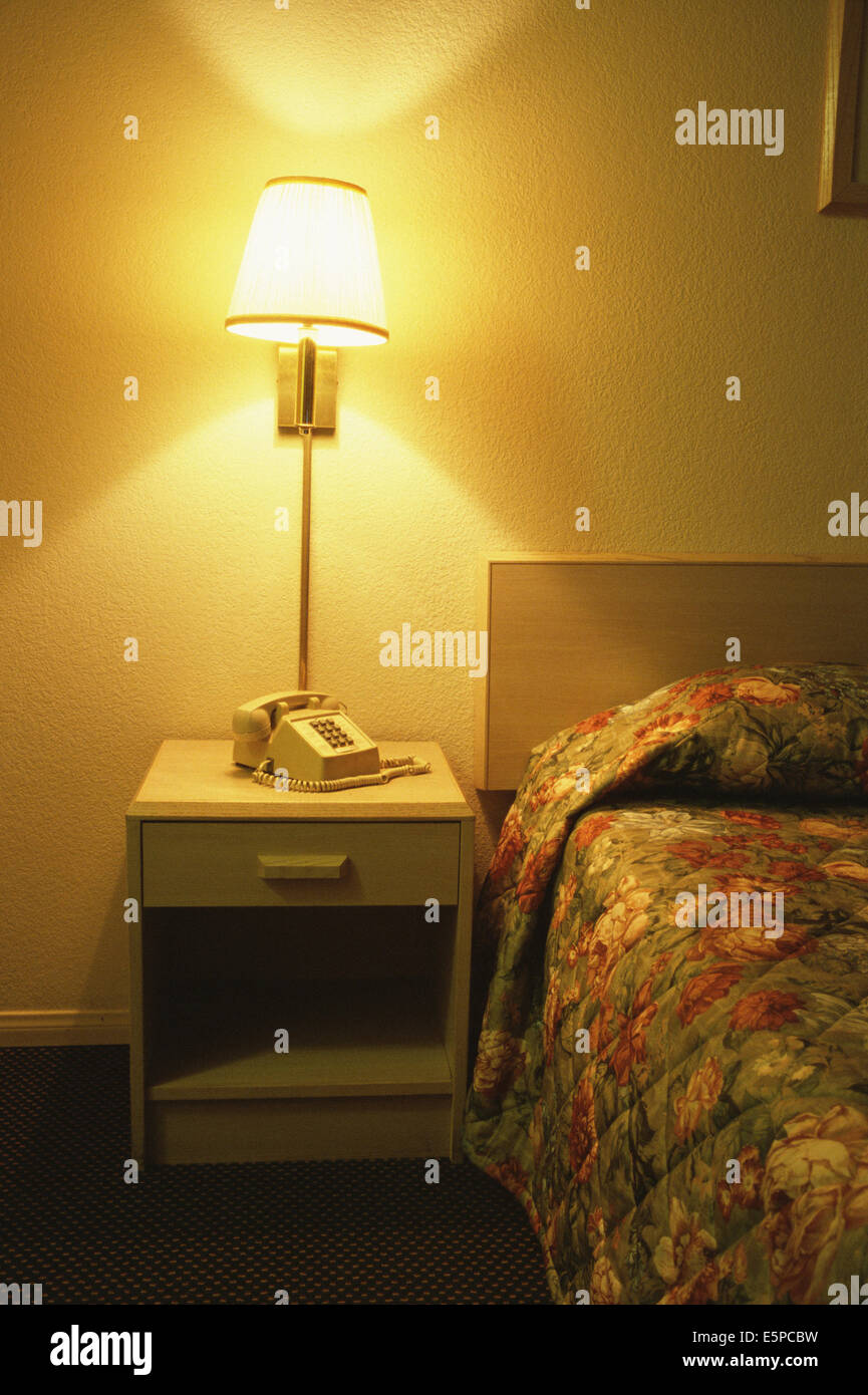 Interior of a motel room - Stock Image