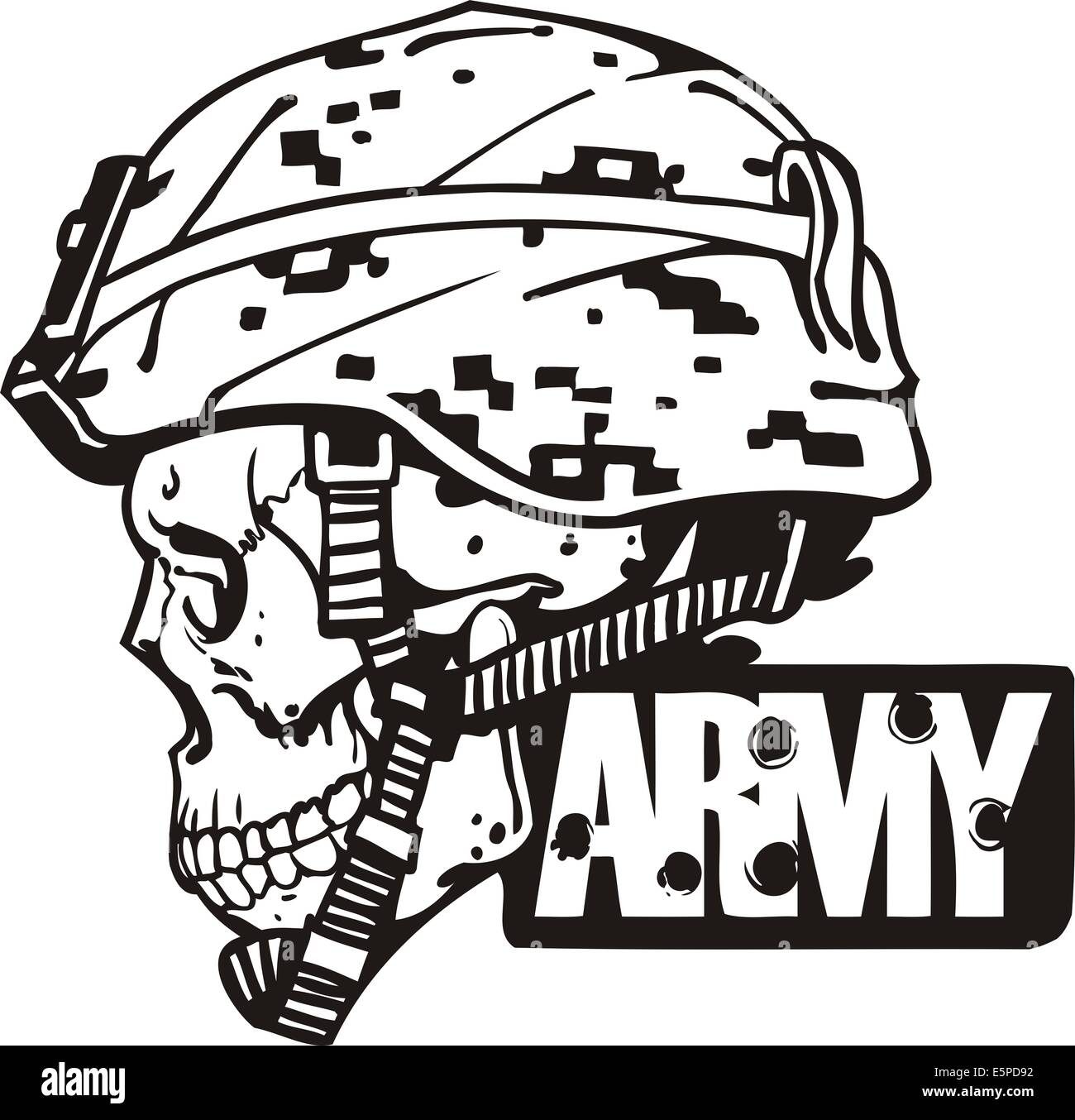 Us Army Military Design Vector Illustration Stock Photo
