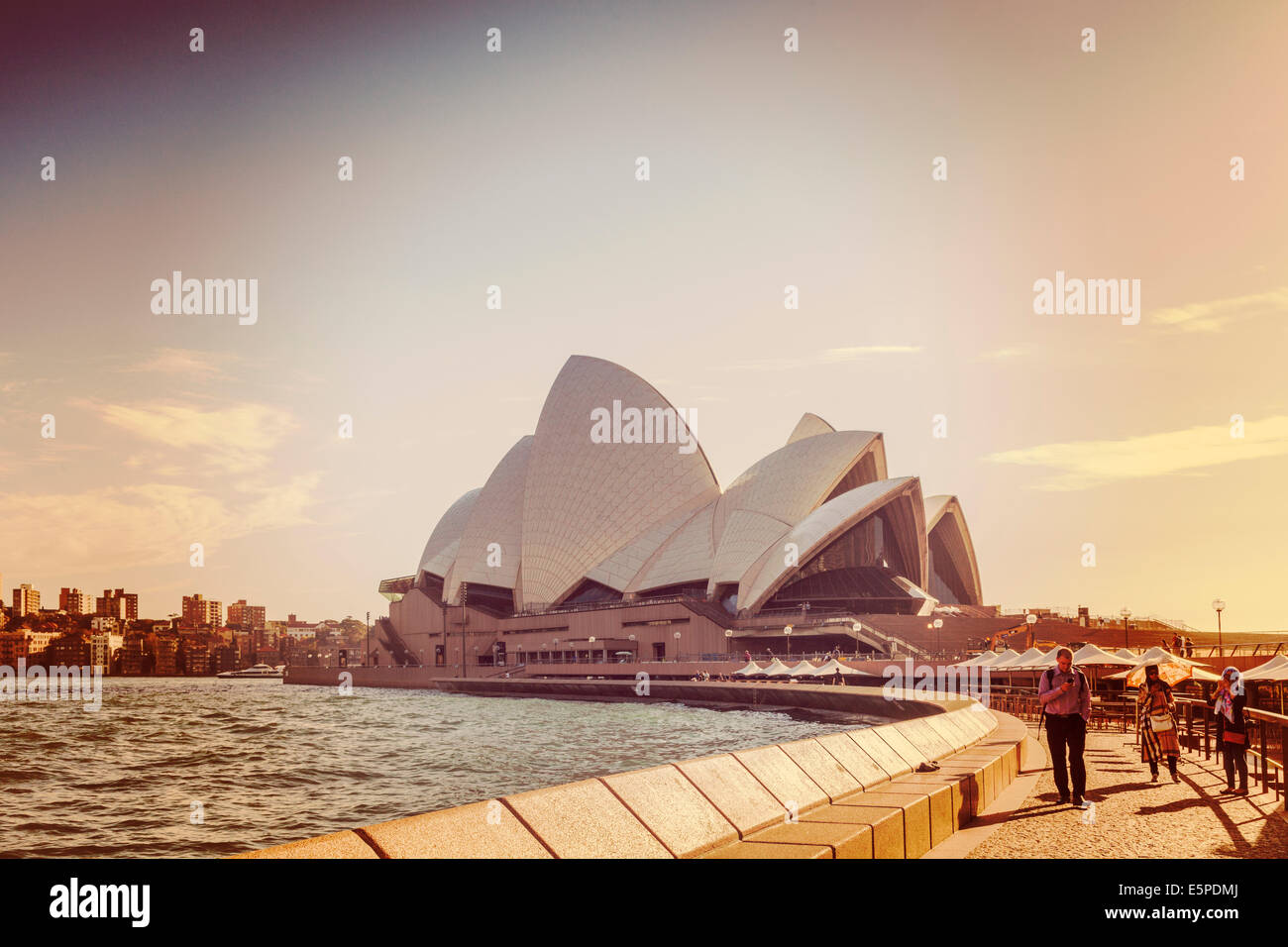 Sydney Opera House with Instagram filter - Stock Image