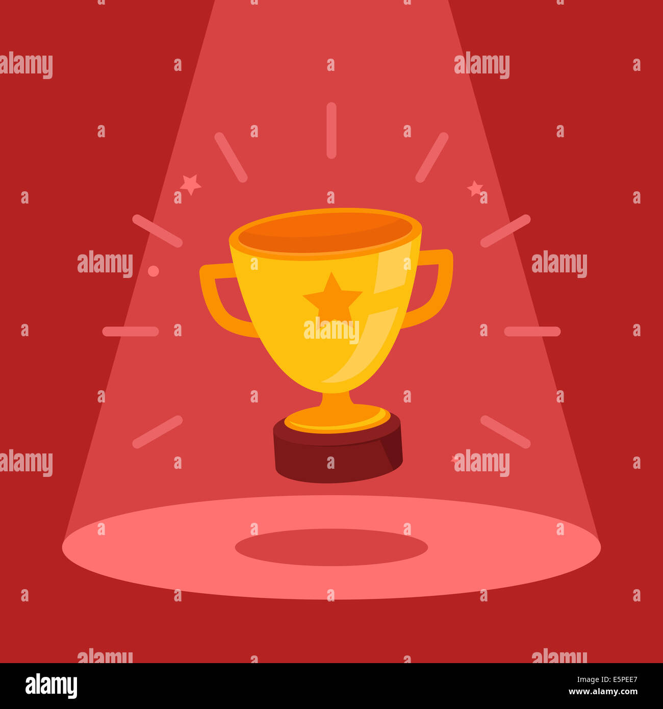 Victory concept - flat bowl icon in the spotlight - Stock Image