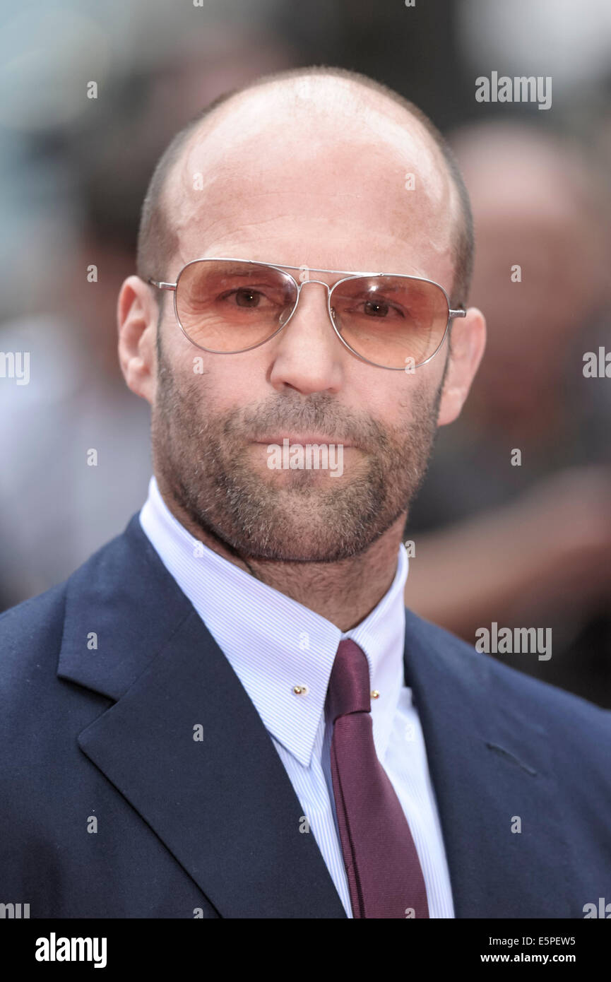 Jason Statham attends the World Premiere of The Expendables 3 on 04/08/2014 at ODEON Leicester Square, London. Persons Stock Photo