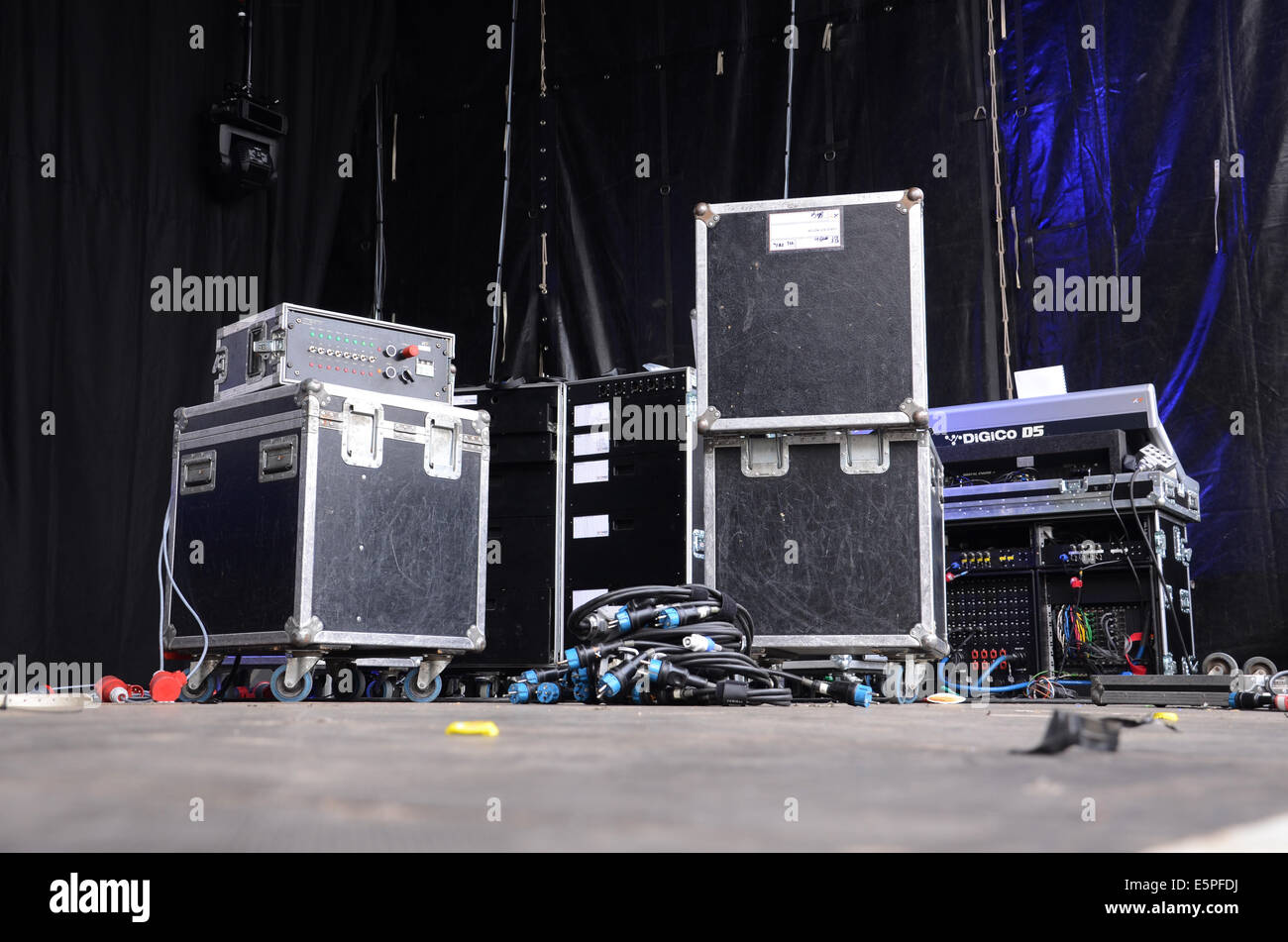 stage equipment at concert - Stock Image