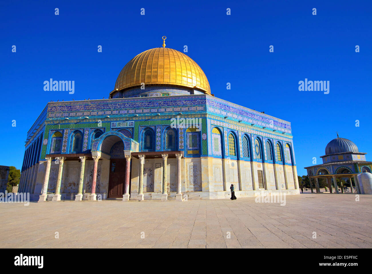 The Dome of the Rock, Temple Mount, UNESCO World Heritage Site, Jerusalem, Israel, Middle East - Stock Image