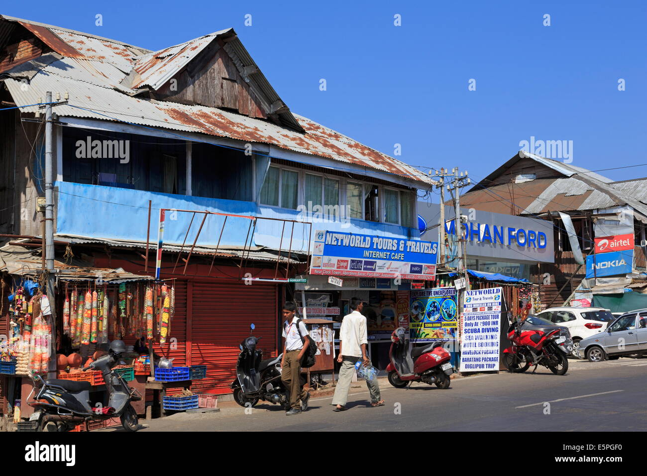 Aberdeen Bazaar, Port Blair, Andaman Islands, India, Asia - Stock Image