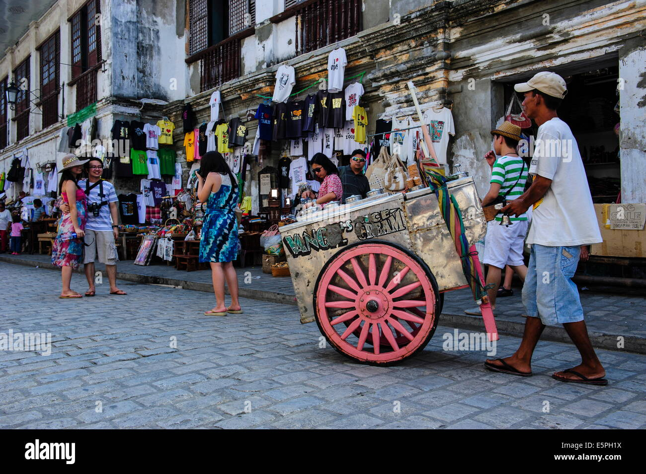 Vigan, UNESCO World Heritage Site, Northern Luzon, Philippines, Southeast Asia, Asia - Stock Image