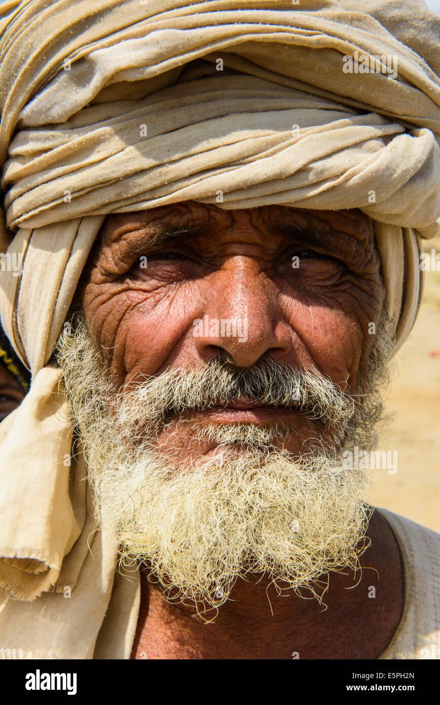 Rashaida man in the desert around Massawa, Eritrea, Africa - Stock Image