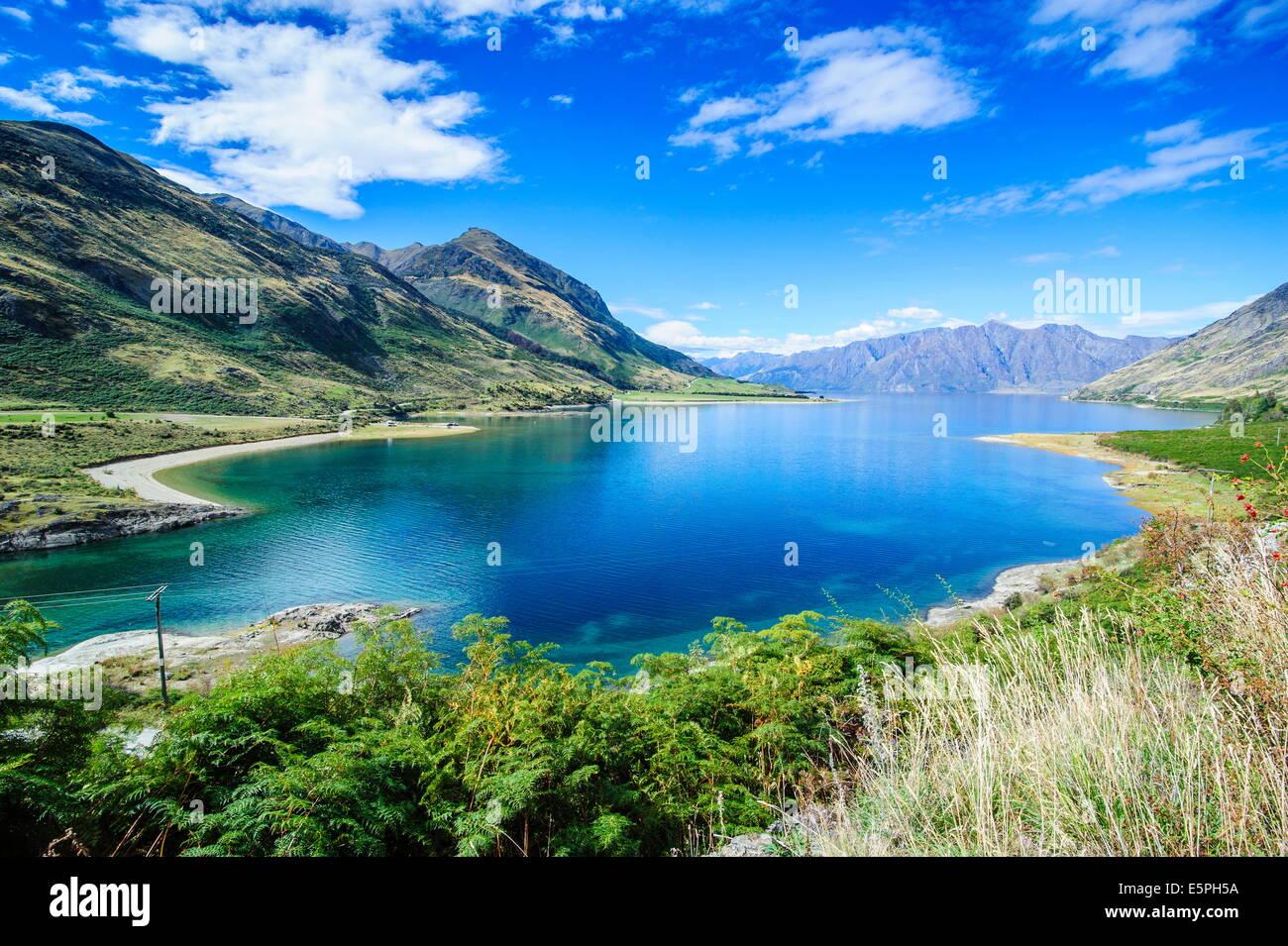Lake Hawea, Haast Pass, South Island, New Zealand, Pacific - Stock Image