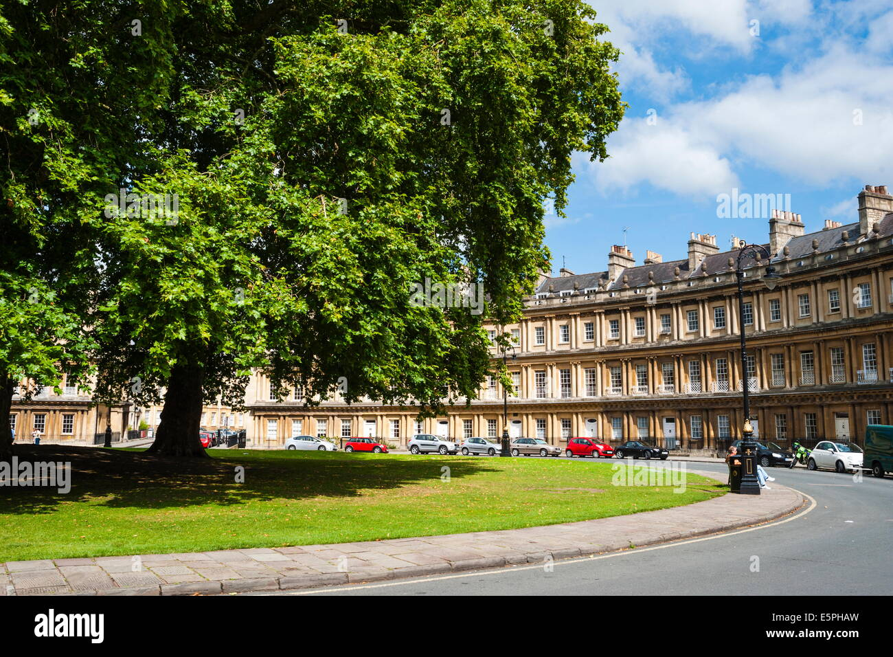 The Circus, Georgian architecture in Bath, UNESCO World Heritage Site, Avon and Somerset, England, United Kingdom, - Stock Image