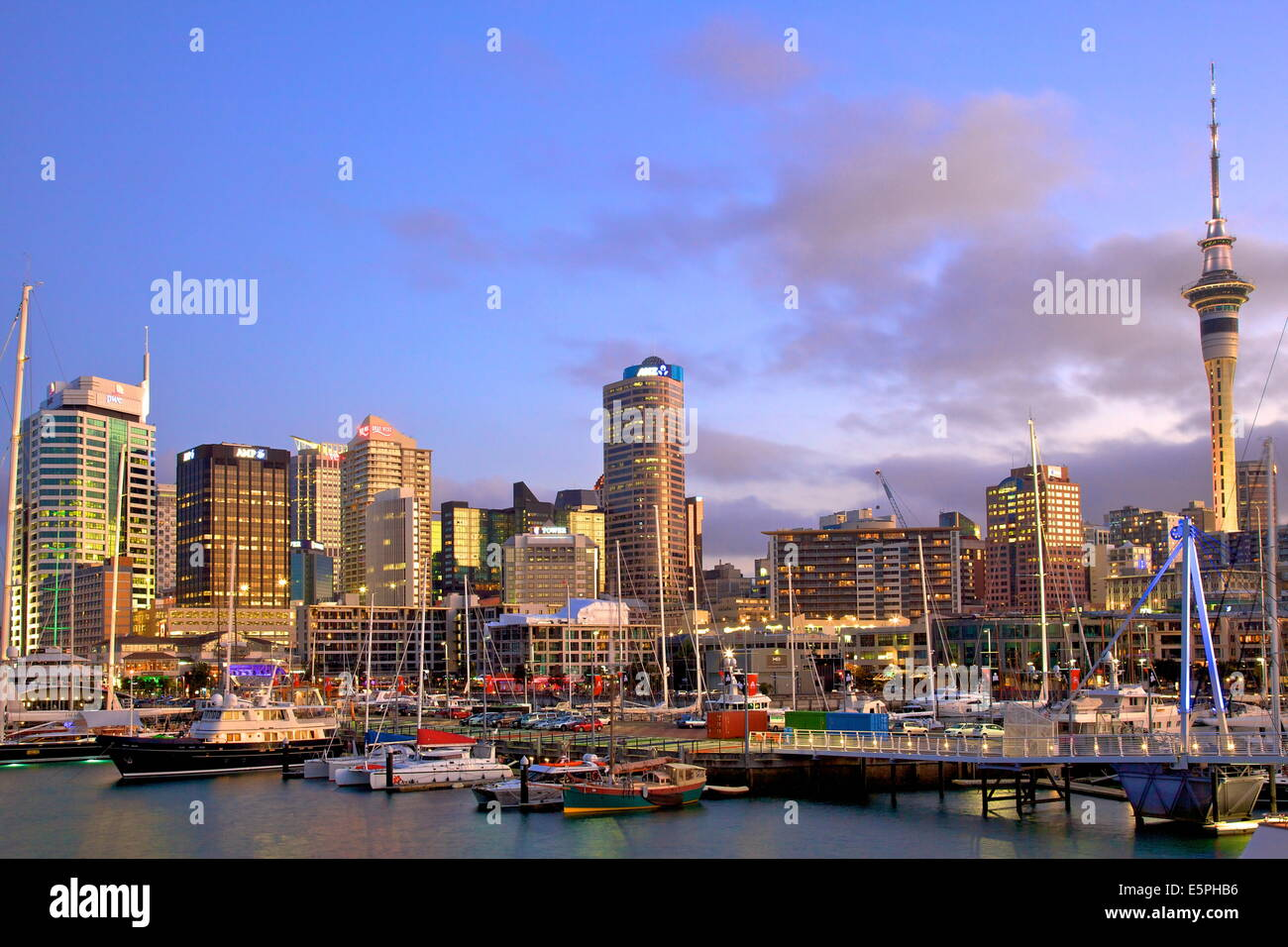 Auckland City and Harbour, Auckland, North Island, New Zealand, Pacific Stock Photo