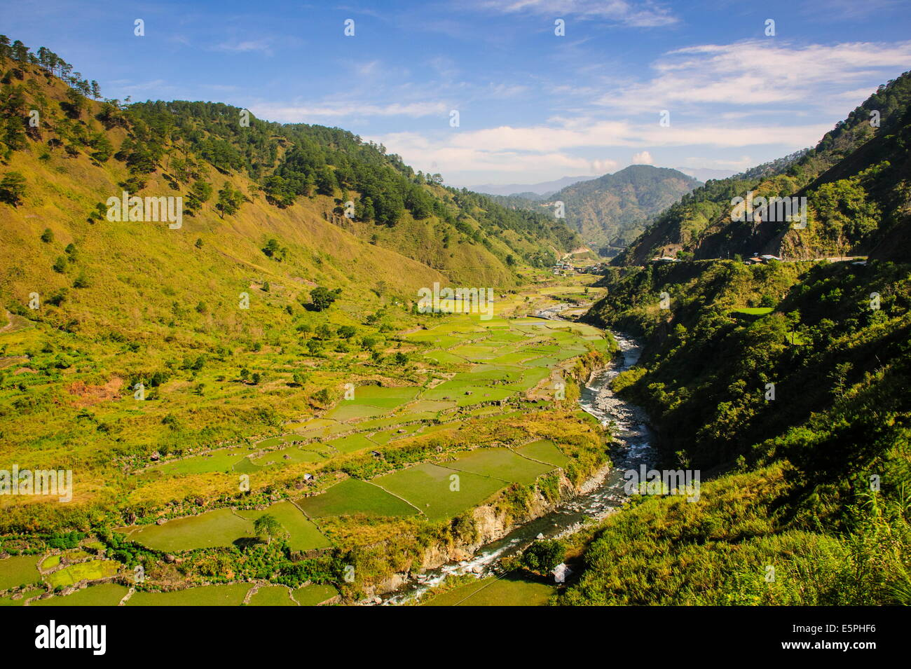 Along the rice terraces from Bontoc to Banaue, Luzon, Philippines, Southeast Asia, Asia - Stock Image