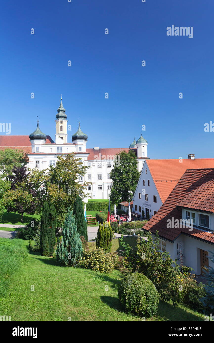 Abbey church, Rot an der Rot, Upper Swabia, Baden Wurttemberg, Germany, Europe - Stock Image