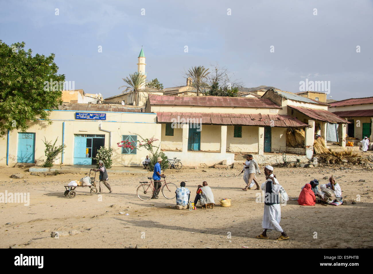 Street scene in the town of Keren, Eritrea, Africa - Stock Image