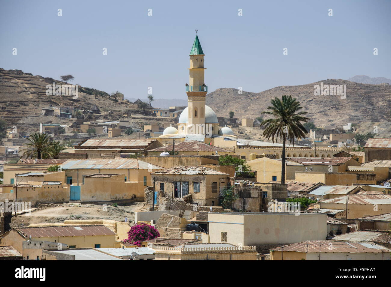 View over the town of Keren, Eritrea, Africa - Stock Image