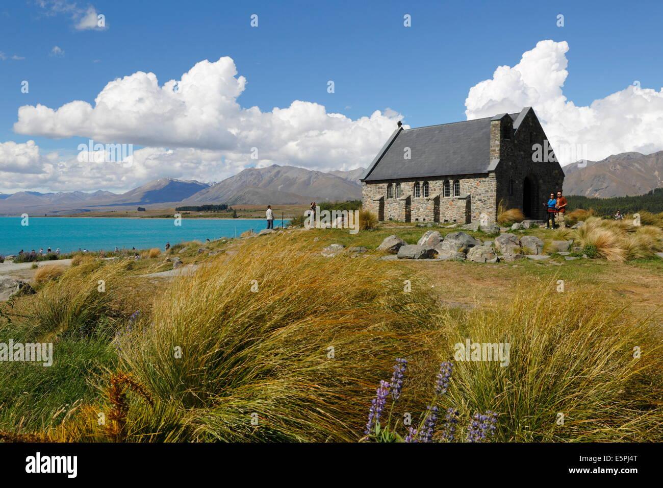 Church of the Good Shepherd, Lake Tekapo, Canterbury region, South Island, New Zealand, Pacific - Stock Image