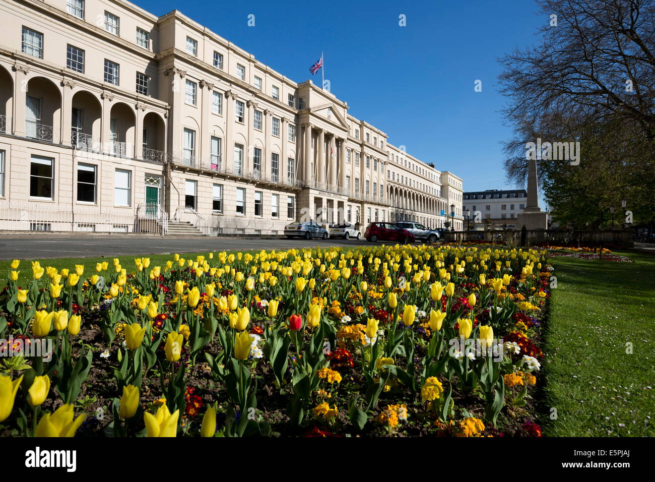 The Promenade and Municipal Offices, Cheltenham, Gloucestershire, England, United Kingdom, Europe - Stock Image