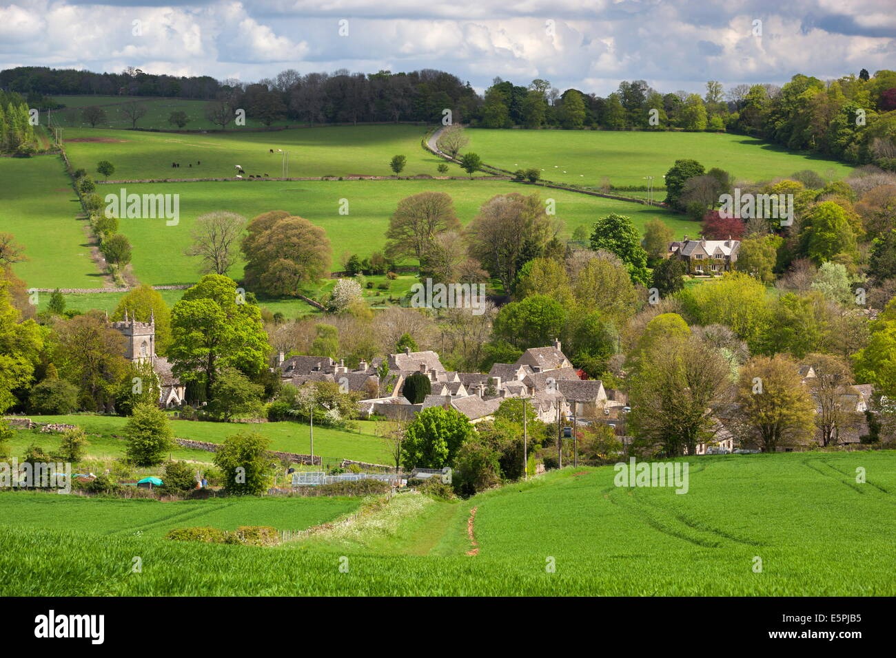 Upper Slaughter, Cotswolds, Gloucestershire, England, United Kingdom, Europe Stock Photo