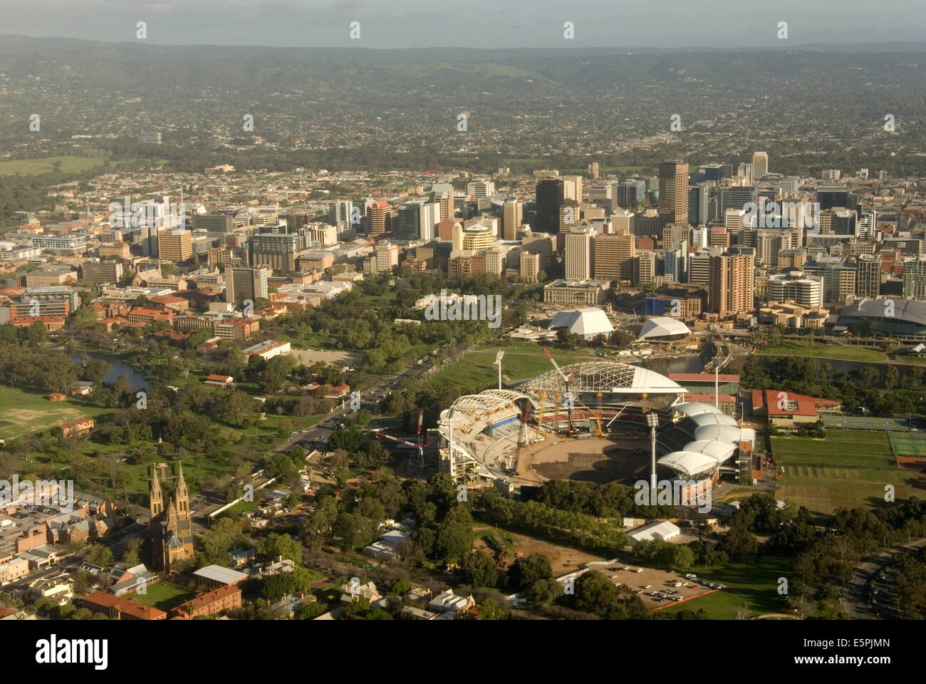 Air view of downtown Adelaide, South Australia, Australia, Pacific Stock Photo