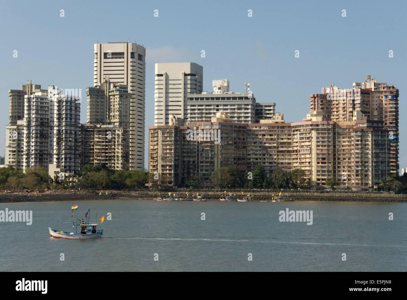 High-rises of southern Colaba, Mumbai, India, Asia - Stock Image