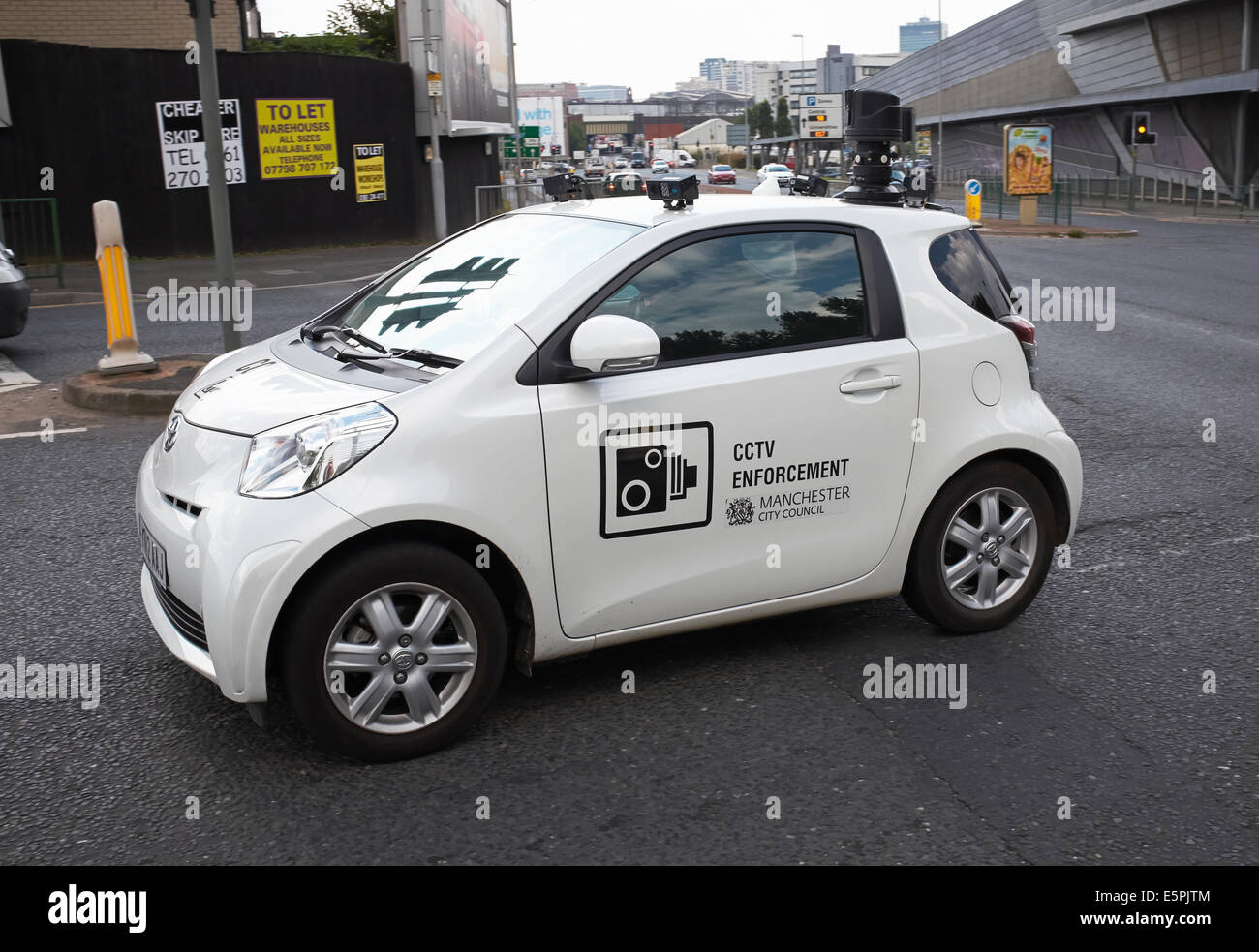 A CCTV traffic enforcement vehicle in Manchester CIty Centre UK - Stock Image