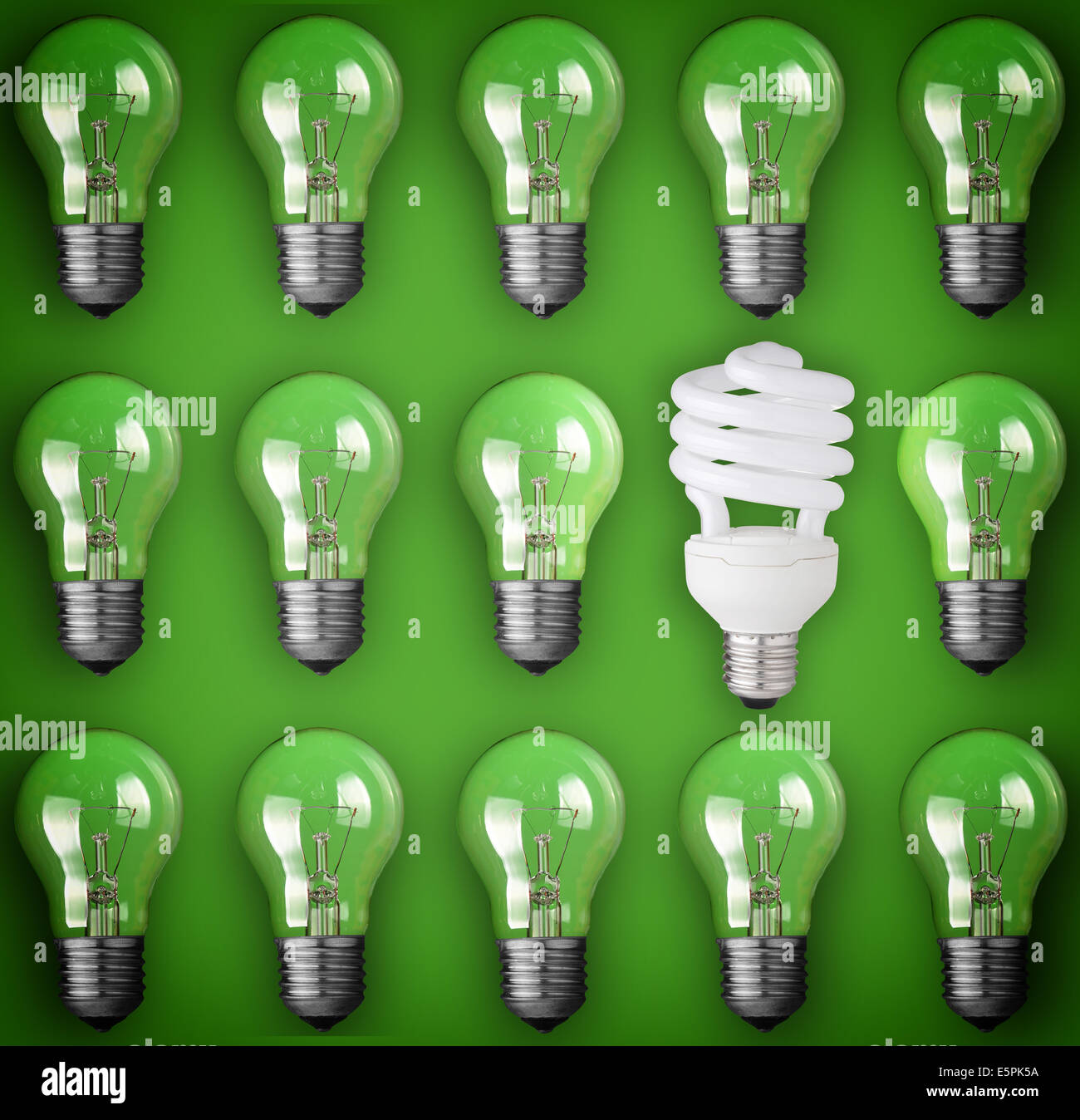 Idea concept light bulb - Stock Image
