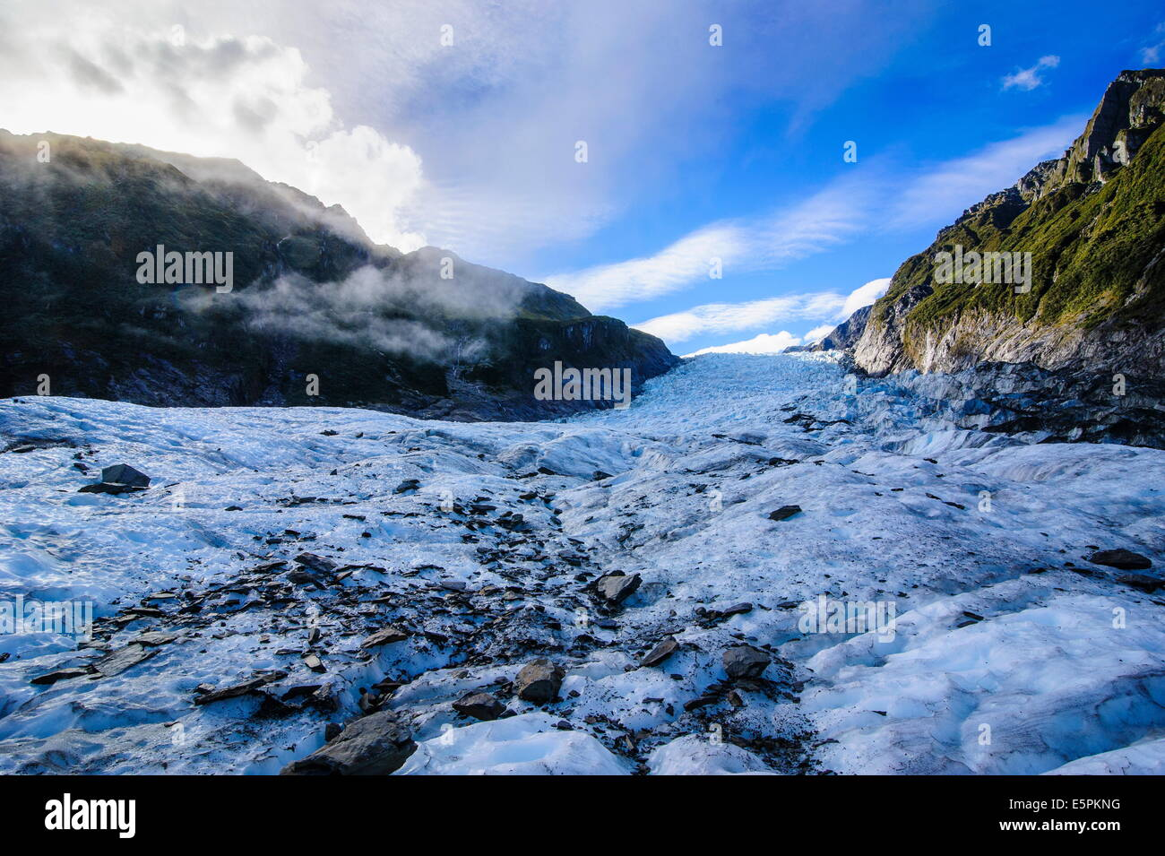Fox Glacier, Westland Tai Poutini National Park, South Island, New Zealand, Pacific - Stock Image