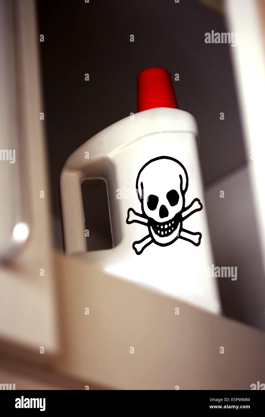 Toxicity of some cleaning products. - Stock Image
