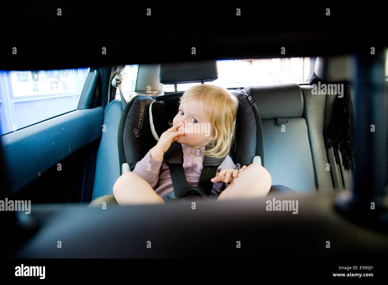 2 Year Old Baby Girl In A Car Seat