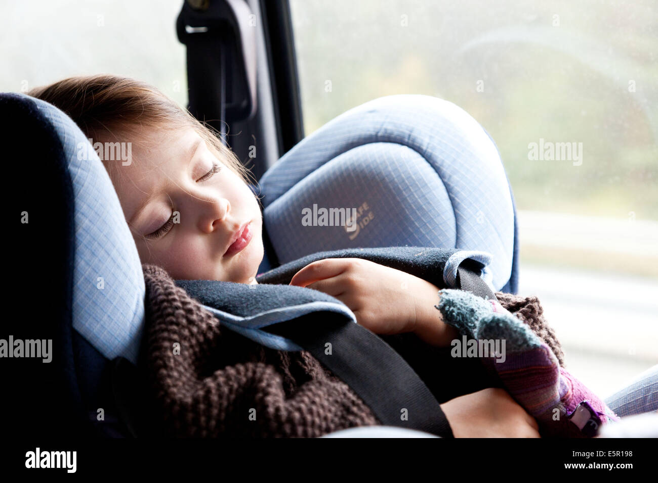 3 Year Old Girl In A Baby Car Seat