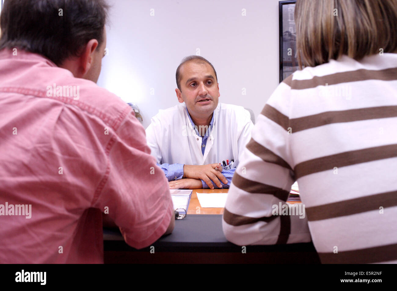 Couple in medical consultation for problems of sterility, Limoges hospital, France. - Stock Image