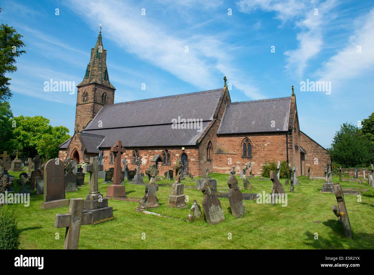 St Mary's Roman Catholic Church, Brewood, Shropshire, England Stock Photo