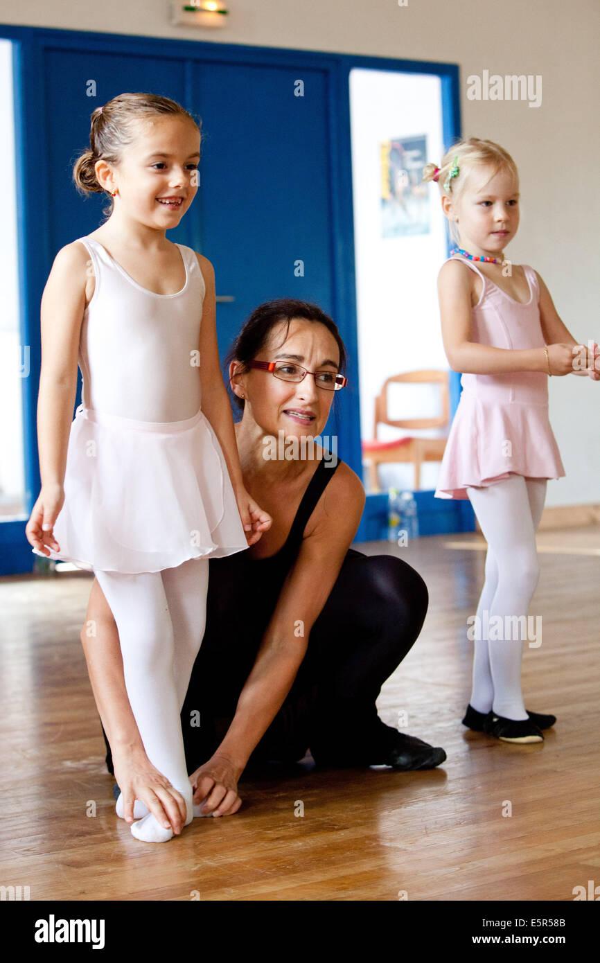 Ballet classes. - Stock Image