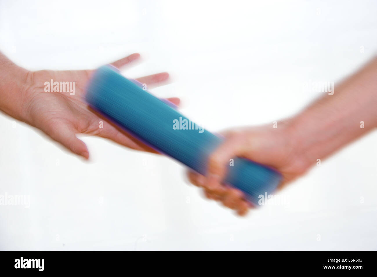 Baton passing - Stock Image