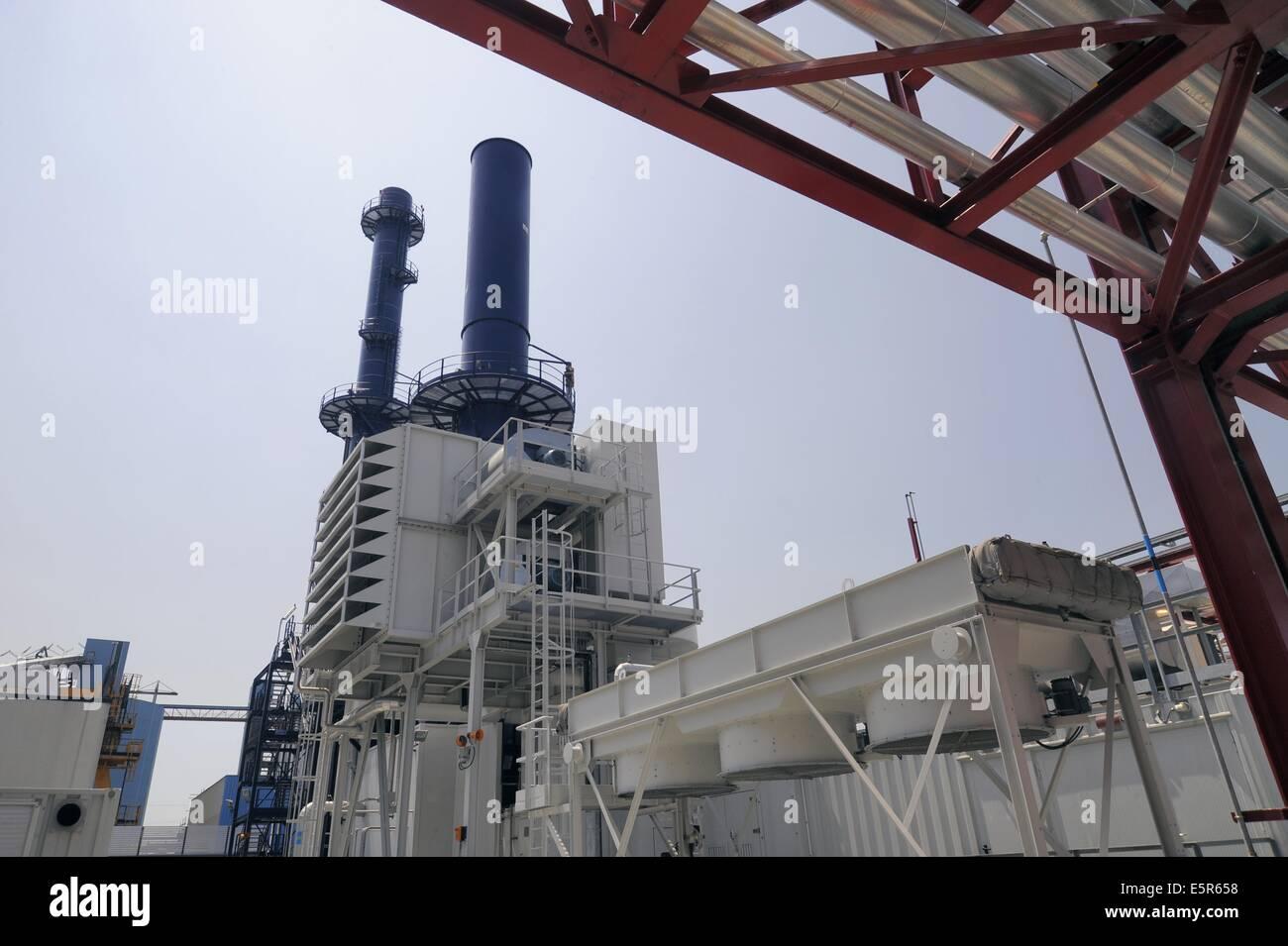 ENEL thermoelectric power plant Palladio in Fusina (Venice, Italy) Stock Photo