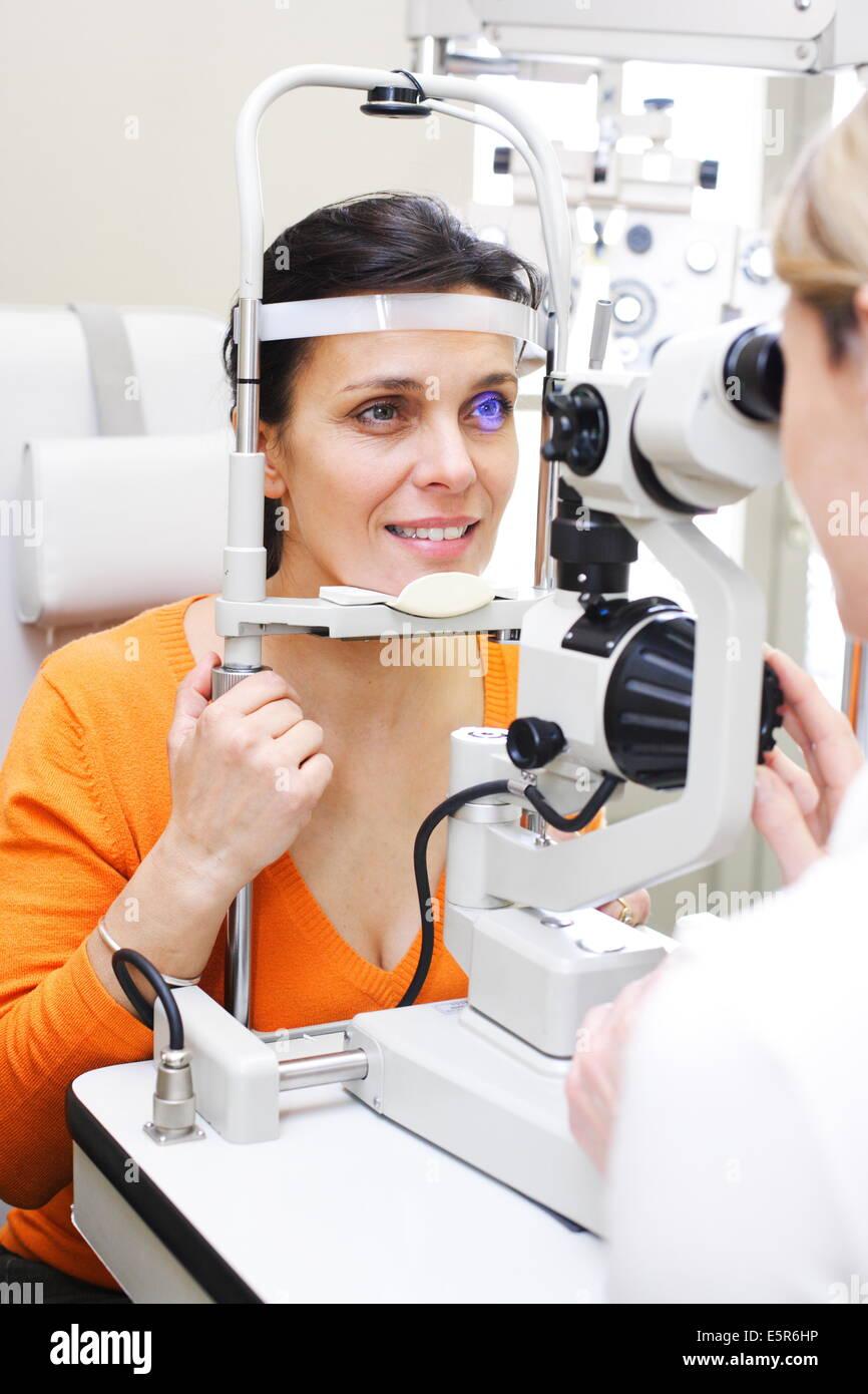 Ophthalmology, Fundus oculi. - Stock Image
