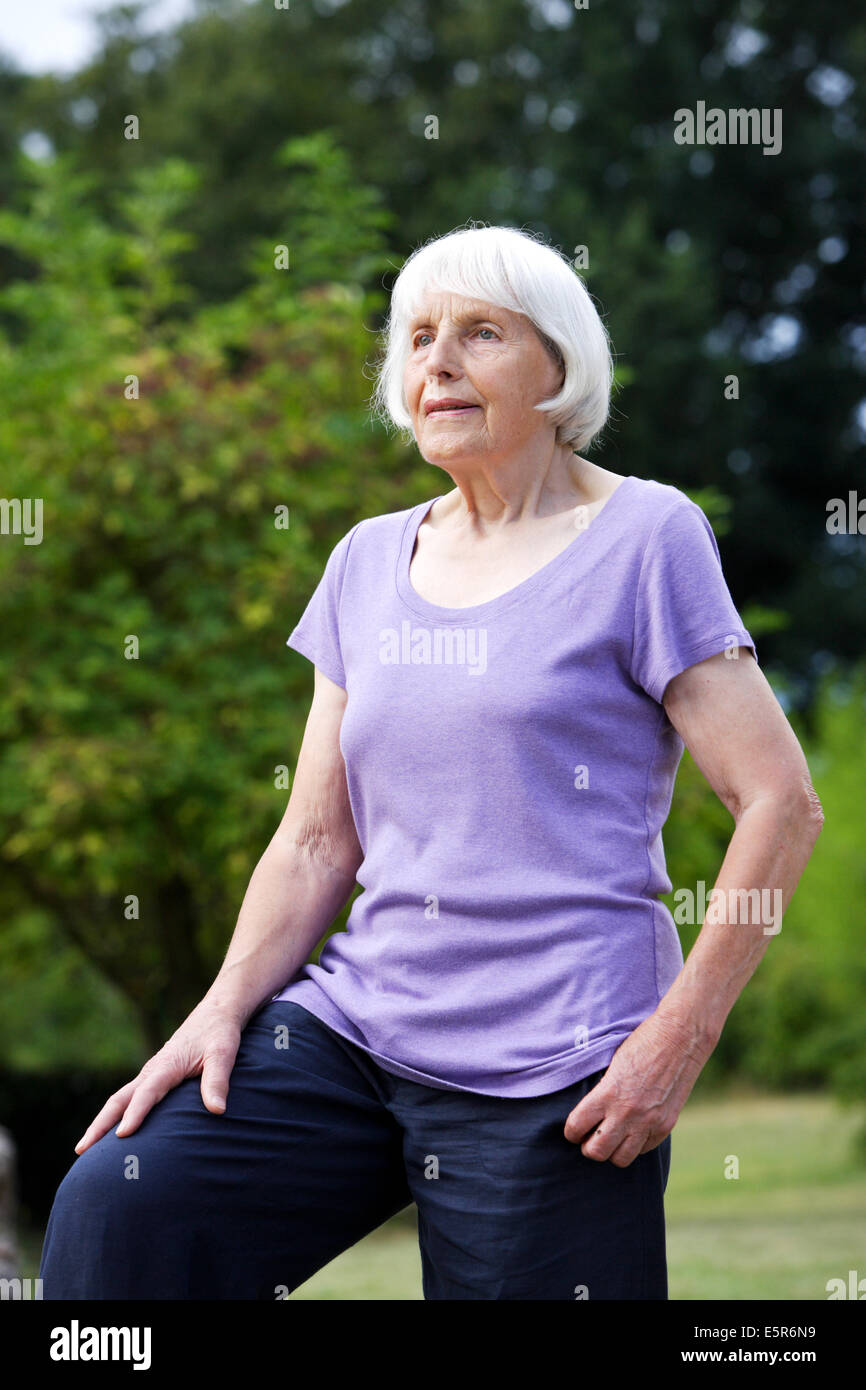 80 year old woman. - Stock Image