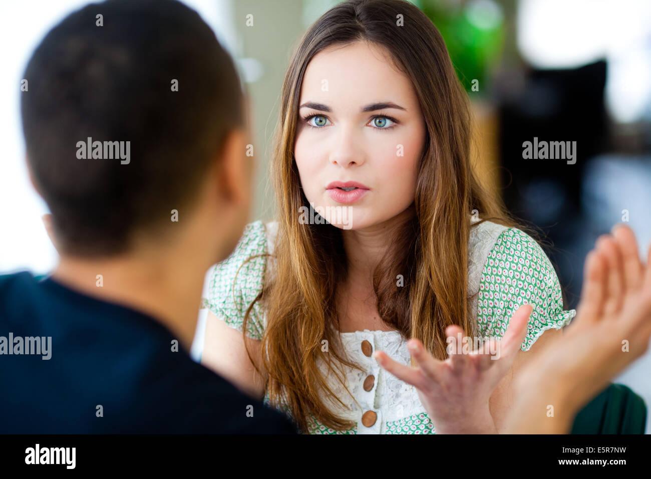 Couple having argument. - Stock Image